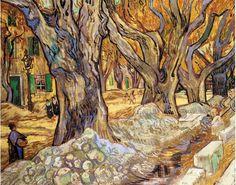 Large Plane Trees, 1889 by Vincent van Gogh. Post-Impressionism. landscape