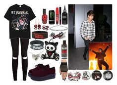 """""""7- my chemical romance concert with your fave."""" by fivesosadiction ❤ liked on Polyvore featuring Rimmel and Manic Panic"""
