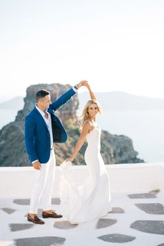 Wedding in Santorini. Be blown away by this sweet traditional Jewish celebration on a sunny Santorini caldera where Katie and Aaron tied their knot. Santorini Wedding, Greece Wedding, Santorini Photographer, Destination Wedding Photographer, Couple Portraits, Bridal Portraits, Portrait Inspiration, Our Wedding Day, Wedding Couples
