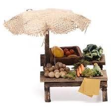 Resultado de imagen para puestos para mercados+belenes Miniature Food, Miniature Gardens, Cute Food, Decoration, Clay, Furniture, Puppet, Farmers Market, Minis