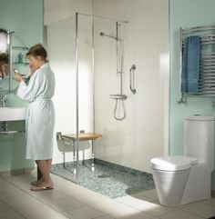 Image result for wheelchair accessible wet room