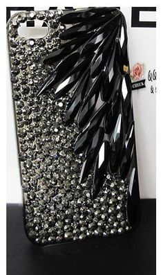 Bling crystal Rhinestone case for iphone 5 5s 5c 6 6 plus case cover black gray