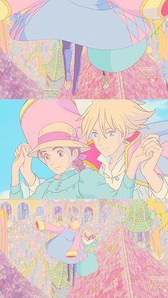 Studio Ghibli Art, Studio Ghibli Movies, Howls Moving Castle Wallpaper, Anime Ai, Anime Love Couple, Cute Anime Pics, Hayao Miyazaki, Slayer Anime, Cute Cartoon Wallpapers