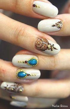 1) Henna - nails