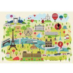 Puzzle en bois : Art maxi 24 pièces : Magda : Paris illustré - PMW-W305-24