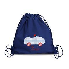 8b0d6cac500f7 la fraise rouge Turnbeutel Kindergarten Jungen Auto in blau auch mit Namen  aus robustem Baumwollstoff  Amazon.de  Handmade