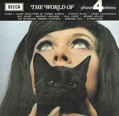 LP Decca with woman and black cat on the album cover