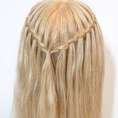 2 Braids Hairstyles, Shaved Side Hairstyles, Girl Hairstyles, Hairstyles Videos, Protective Hairstyles, Waterfall Braid Tutorial, How To Waterfall Braid, Medium Hair Styles, Short Hair Styles