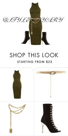 """Untitled #507"" by larryisreal123 ❤ liked on Polyvore featuring Topshop, Accessorize, Moschino and Balmain"