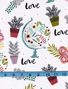Botanical All Over100% Cotton Fabric by the YardWhimsical
