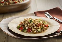 Farro's firm texture and slightly nutty flavor make it versatile ...