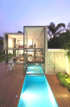 Indoor Outdoor Pool Contemporary