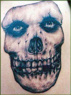 The Misfits Skull Logo Greyscale Band Tattoo