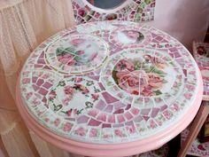 Pink Roses Mosaic by Hillspeak