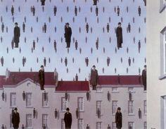 겨울비 - 르네 마그리트 /   초현실주의 작가인 르네 마그리트는 이 작품에서 많은 사람들을 공중에서 떨어지는 빗방울처럼 표현했다. 그래서인지 이 그림은 재미있고 기발하기도 하지만 한편으로는 난해한 느낌을 준다. 그림 속 많은 사람들은 마치 복제된 것처럼 비슷하게 보이는데 마그리트가이 작품을 통해 현대인들의 개성없고 복제된 듯한 삶을 풍자하고 있는 것은 아닐까 생각해보았다.