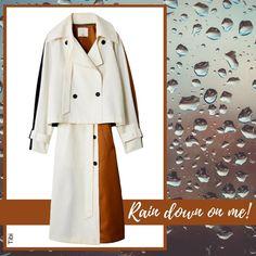 Stylish Raincoats, Rain Fashion, Your Head, Kiss You, Duster Coat, Jackets, Down Jackets, Jacket