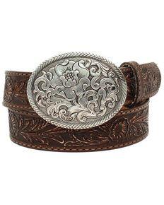 MONIQUE Men Zinc Alloy Engraved Western Cowboy Longhorn Star 1.5 Belt Buckle