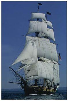 US Brig Niagra at full sail
