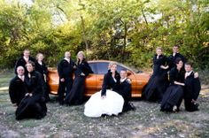 Lingenfelter Apparel.  The entire Wedding Party rocking Lingenfelter Jackets!!