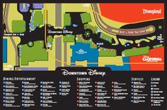 ****FOR DisneyLAND CALIFORNIA ****Guide to Downtown Disney includes map. Jazz Kitchen & LEGO are close to monorail station.