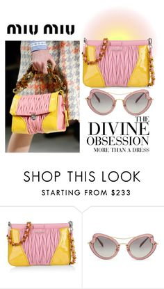 """MIU MIU...divine obsession."" by nurinur ❤ liked on Polyvore featuring Miu Miu and Vera Wang"