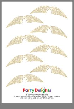 Enterprising image in golden snitch wings printable