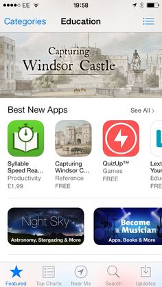 Capturing Windsor Castle still featured in the App Store...