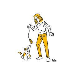 2015년작_알파갤러리 전시작 - 디지털 아트, 일러스트레이션 People Illustration, Character Illustration, Graphic Illustration, Cute Journals, Cat Character, Iconic Characters, Cup Design, Pictogram, Cartoon Wallpaper