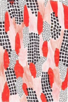 red pattern, texture, illustration, graphic design, pink, black
