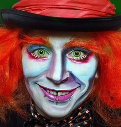 halloween the mad hatter make up from Alice in wonderland