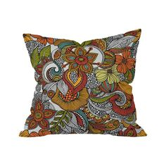 The Villa Serritos Outdoor Throw Pillow takes you on a serene journey through an artful flower garden. Absorb the rich colors and ornate design of this exquisite pillow and its fantasy floral theme. En...  Find the Villa Serritos Outdoor Throw Pillow, as seen in the The Wonderfully Weird 70s Collection at http://dotandbo.com/collections/the-wonderfully-weird-70s?utm_source=pinterest&utm_medium=organic&db_sku=105559