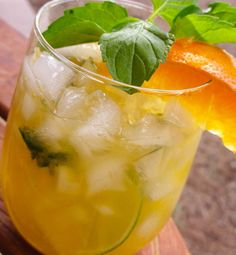 Alcoholic Cocktail Mojito Orange Recipe