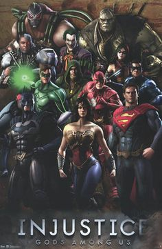 A great poster of the cast from DC Comics video game - Injustice: Gods Among Us! Ships fast. Fully licensed. Ships fast. 22x34 inches. Need Poster Mounts..? bm9775 sc6265