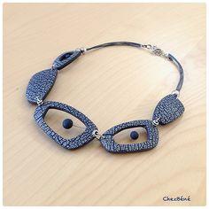 Chézbéne, polymer clay necklace.