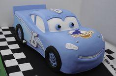 Final result - 3D Lightning McQueen Dinoco cake