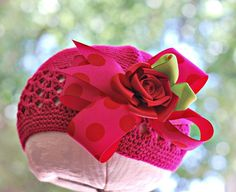 Large hair bow How-to with flower embellishment