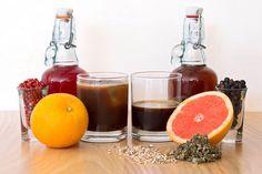 Worlds Collide: orange-peppercorn syrup, espresso, berry shrub, sparkling water, angostura bitters