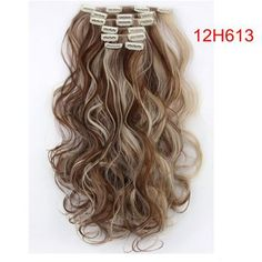 Material : Japan hightemperaturefiber Length : 20inch 50cmWeight : 120g(include clips) Color : Multicolor Hair Extension type : Full head hair Model number : 999 Item per package : 7Piece/set 1 pcs - 8 inch piece ( for the back of the head ) with 4 clips 2 pcs - 5 inch pieces ( for the back of the head ) with 3 clips 2 pcs - 3 inch pieces ( for the sides of the head ) with 2 clips 2 pcs - 1.5 inch pieces ( for the sides of the head ) with 1 clip Colored Hair Extensions, Clip In Hair Extensions, Long Curly, Hair Pieces, Hair Clips, Hair Color, Long Hair Styles, Lace, Beauty