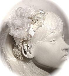 Bridal Headpiece Swarovski Crystal Hairpiece by Marcellefinery