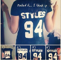 Make your own One Direction/5SOS Jersey Shirt, these were my results! :)