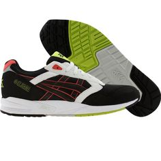 Asics Gel-Saga in black, green, red, and white for mens
