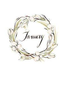 Kelsey Garrity-Riley Illustration: January is here. Kelsey Garrity-Riley Illustration: January is here. Wallpaper Gratis, Hello January, December, Hello Sunday, Happy February, January Jones, Wreath Watercolor, Watercolour, Watercolor Flowers