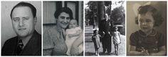 Dit is de familie Süskind. (v.l.n.r Walter, Hanna (vrouw), Walter met Yvonne en haar vriendinnetje en rechts zie je Yvonne, zijn kind.