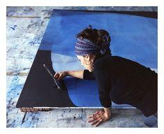 Michelle Concepcion Working in the studio