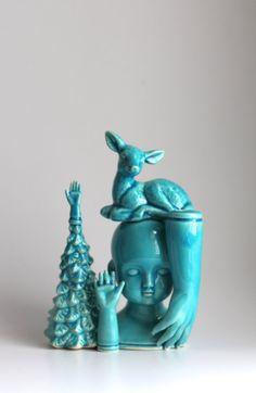 Melabo blue slip cast pile