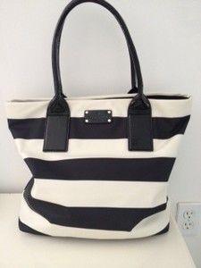 Kate Spade Purse. adore the classic stripes