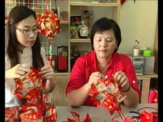 It is customary for Chinese household to hang red lanterns during Chinese New Year. Tho Xin Yi learns from Susan Ho, to turn the little red packets or ang pows into a beautiful handmade lantern that's ideal for decoration.