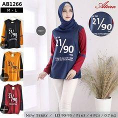 Kaos Lengan Panjang Wanita Muslimah AB1266