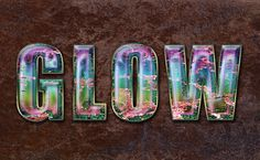 Create Glowing Text with Stone and Timber Texture in Photoshop