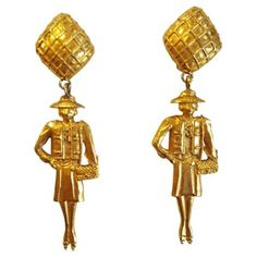 Check out this item at One Kings Lane! 1970s Madame Coco Chanel Earrings